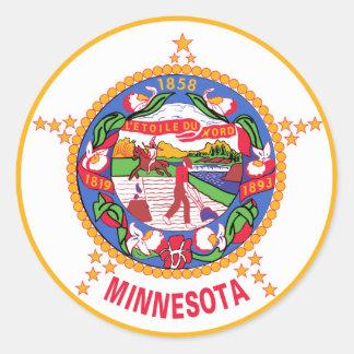 Minnesota State Flag Round Sticker