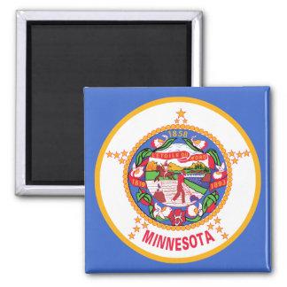 Minnesota State Flag Square Magnet