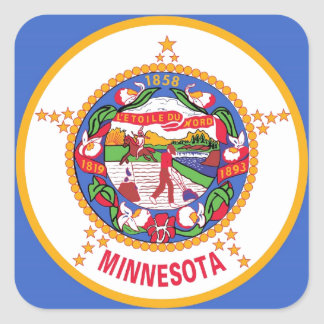 Minnesota State Flag Square Sticker