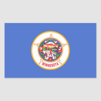 Minnesota State flag Rectangular Sticker
