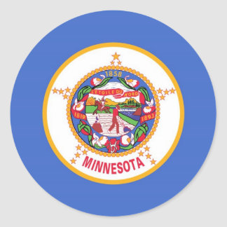 Minnesota State Flag Round Stickers