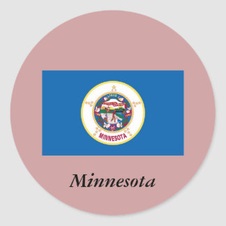 Minnesota State Flag Round Stickers