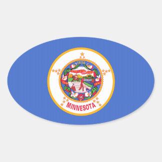 Minnesota State Flag Oval Stickers