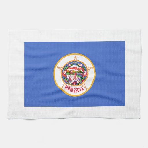 Minnesota State Flag Hand Towels
