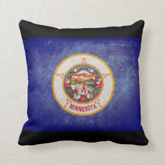 Minnesota state flag throw cushions