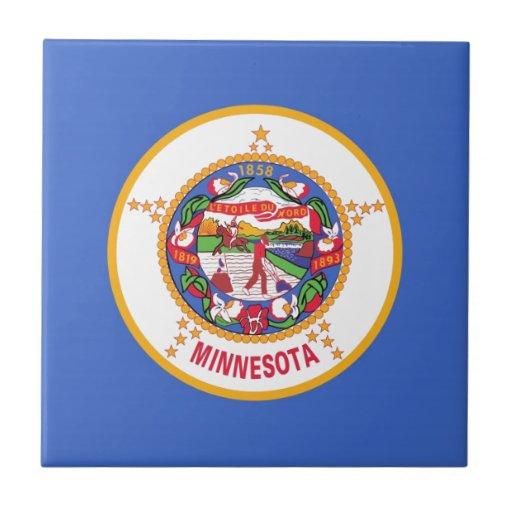 Minnesota State Flag Ceramic Tile