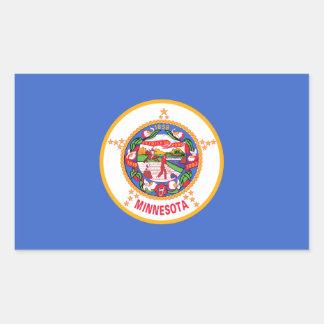 Minnesota State Flag, United States Rectangular Sticker