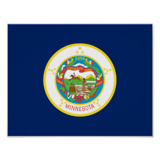 Minnesota state flag usa united america symbol poster
