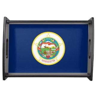 Minnesota state flag usa united america symbol serving tray
