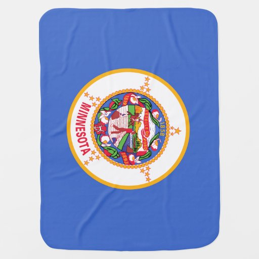 Minnesota State Flag Stroller Blanket