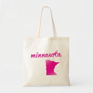 Minnesota state in pink