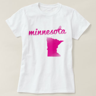 Minnesota state in pink T-Shirt