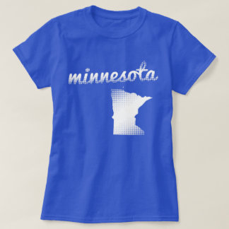 Minnesota state in white T-Shirt