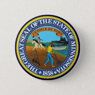 Minnesota State Seal 6 Cm Round Badge