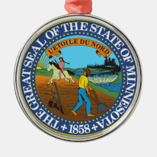 Minnesota state seal america republic symbol flag christmas ornament