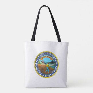 Minnesota state seal america republic symbol flag tote bag