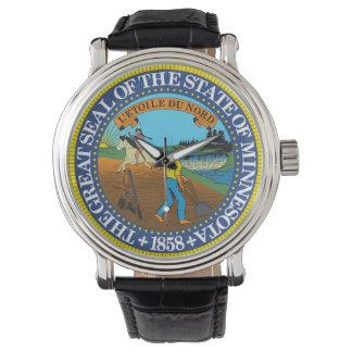 Minnesota state seal america republic symbol flag wristwatches
