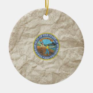 Minnesota State Seal Christmas Ornament