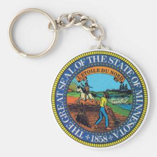 Minnesota State Seal Key Ring