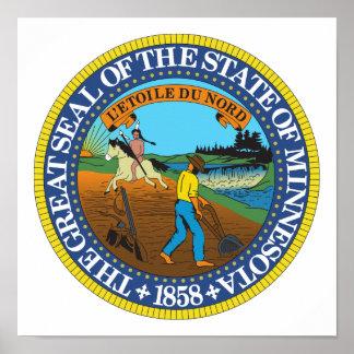 Minnesota State Seal Poster