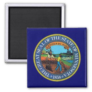 Minnesota State Seal Square Magnet