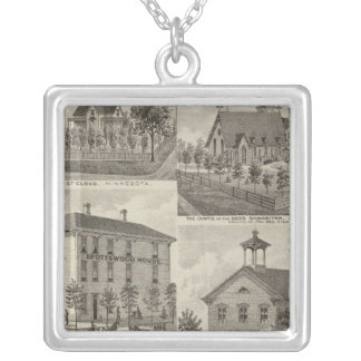 Minnesota Surroundings Silver Plated Necklace