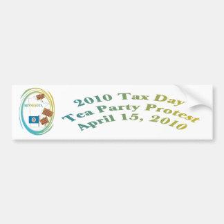 Minnesota Tax Day Tea Party Protest Bumper Sticker