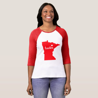 Minnesota Teacher Tshirt (Red)