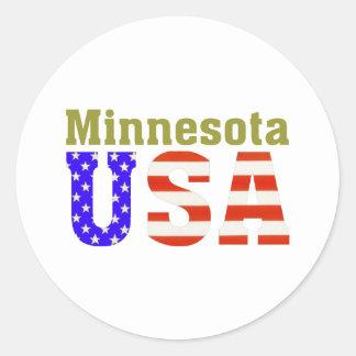 Minnesota USA! Classic Round Sticker