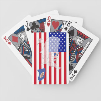 Minnesota-USA State flag map playing cards Bicycle Playing Cards