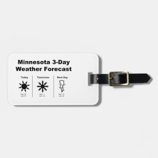 Minnesota Weather Forecast Bag Tag