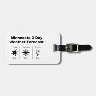 Minnesota Weather Forecast Luggage Tag