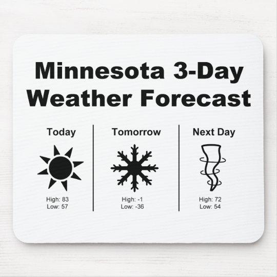 Minnesota Weather Forecast Mouse Mat