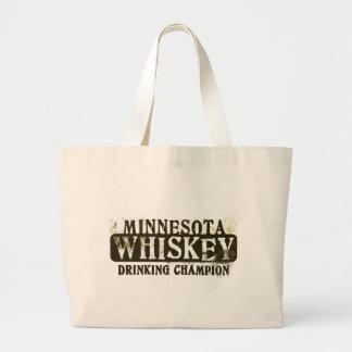 Minnesota Whiskey Drinking Champion Canvas Bag