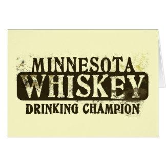 Minnesota Whiskey Drinking Champion Card