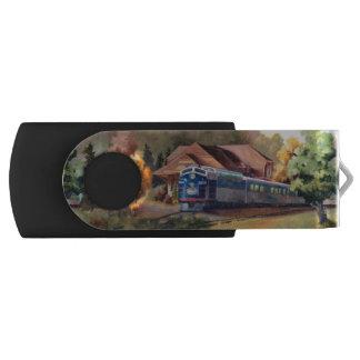 Minnesota Zephyr Train Swivel USB 2.0 Flash Drive