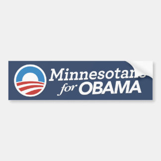 Minnesotans For Obama Bumper Sticker CUSTOM COLOR