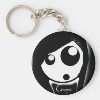 Minni K on our chain Basic Round Button Key Ring