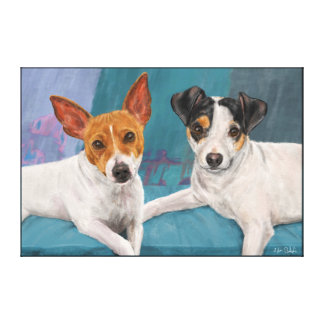 Minnie and Daisy Stretched Canvas Print