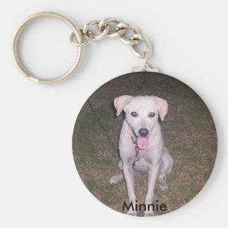 Minnie Basic Round Button Key Ring