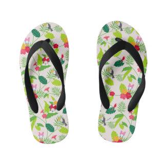 Minnie & Daisy | Tropical Pattern Flip Flops