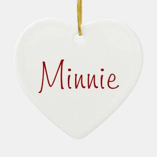 Minnie - dog necklace ceramic heart decoration