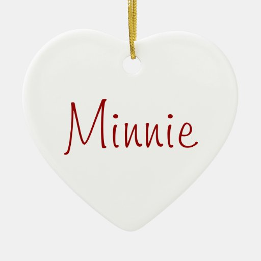 Minnie - dog necklace ornament