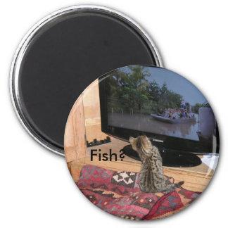 Minnie - Fish? 6 Cm Round Magnet