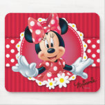 Minnie Flower Frame Mouse Pads