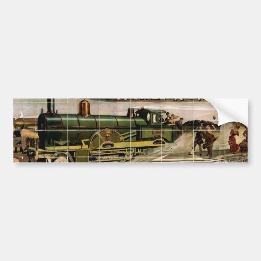 Minnie Palmer, 'A mile a minute' Retro Theater Bumper Stickers
