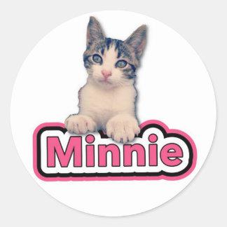 Minnie Round Sticker