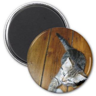 minnie the minx 6 cm round magnet