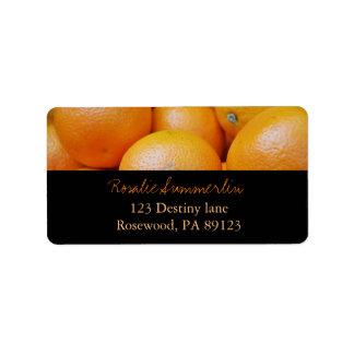 minniemay oranges + black address label
