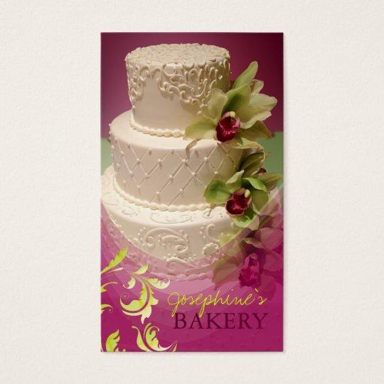 minniemay wedding cake swirls+cymbidium business card